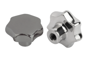 Star grips similar to DIN 6336, stainless steel, Form E, blind tapped hole