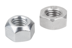 Hexagon nuts with thread lock DIN 980