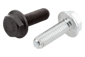 Hexagon head bolts with serrated flange