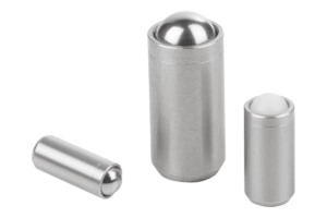 Spring plungers smooth version without collar, stainless steel