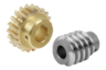 Worm gears, right-hand centre distance 25 mm
