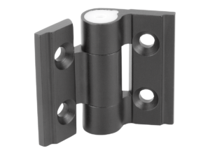 Hinges aluminium, with adjustable friction