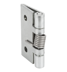 Spring hinges, steel, stainless steel or aluminium, 50 mm, spring closed