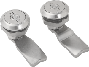 Quarter-turn security locks, stainless steel