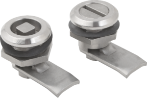 Quarter-turn lock, stainless steel