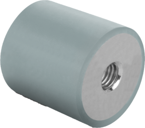 Rubber buffers stainless steel, type C