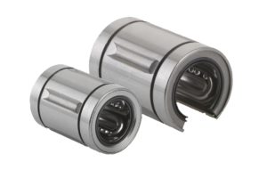 Linear ball bearing, stainless steel, closed