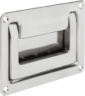 Recessed handles fold-down, stainless steel