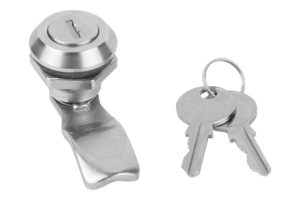 Quarter-turn locks lockable, stainless steel