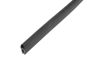 Edge protection sealing profiles with integrated steel wire core, Form E