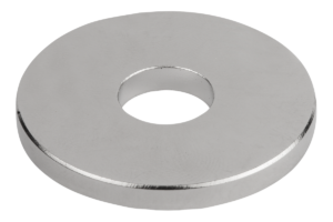 Magnets raw, Form B with hole, NdFeB, disc form