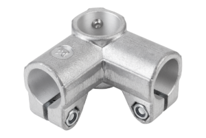 TUBE CLAMP 2-WAY ALUMINIUM, FOR RND.