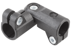 TUBE CLAMP 2-WAY HINGE THERMOPLASTIC,