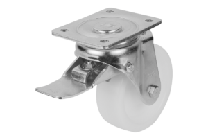 SWIVEL CASTOR WITH STOP-TOP LOCKING SYS