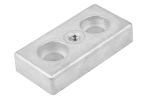 FOOT PLATE D=M10 80X40X16 PLASTIC,