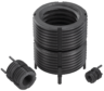 Threaded inserts with internal thread, self-locking