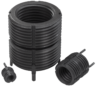 Threaded inserts reinforced internal thread, self-locking