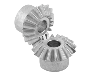 Bevel gears, zinc, ratio 1:1 cast, straight teeth, engagement angle 20°